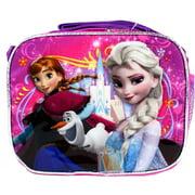 Lunch Bag - Disney - Frozen Pink Purple Anna and Elsa Kit Case New 622060