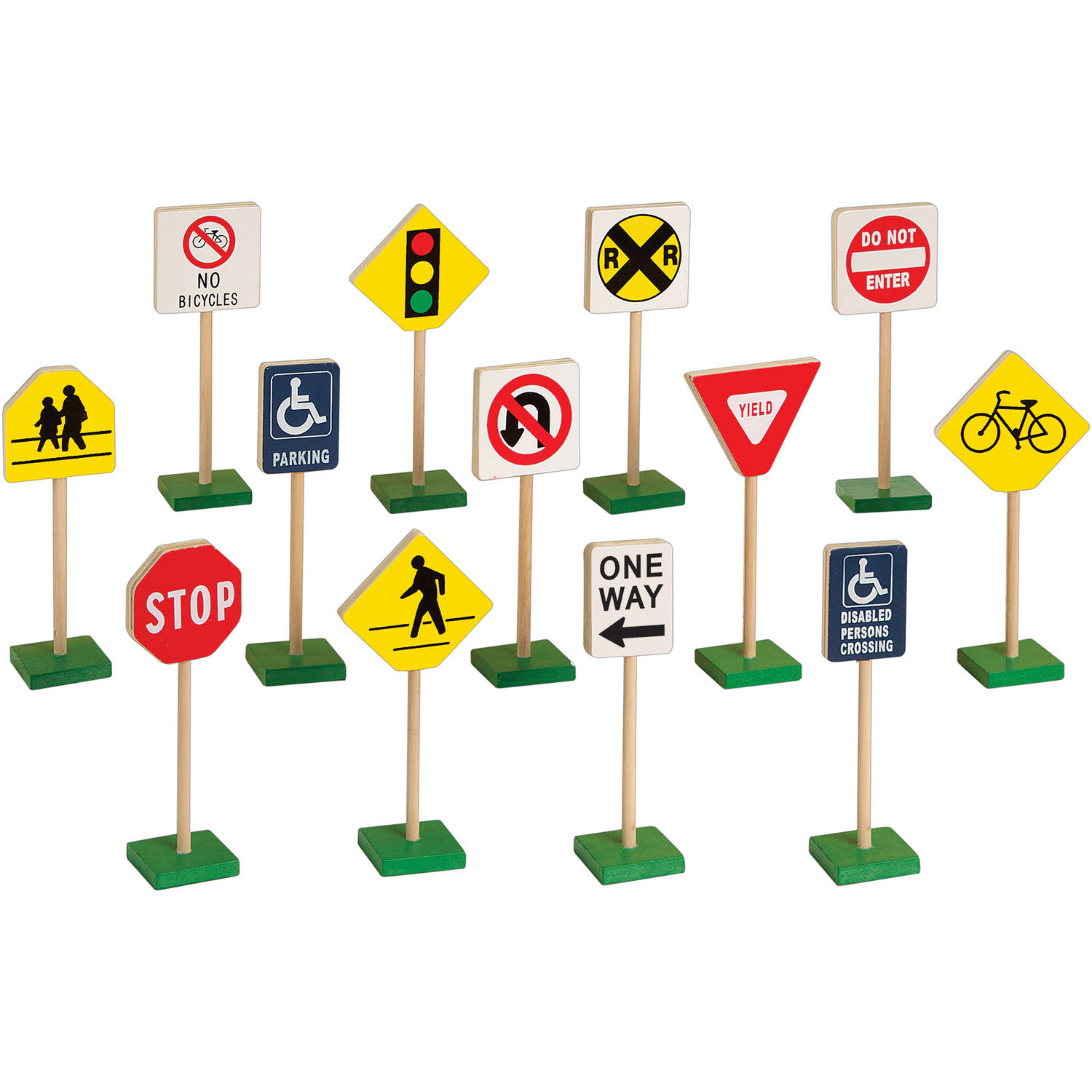 Guidecraft Wooden Traffic Signs