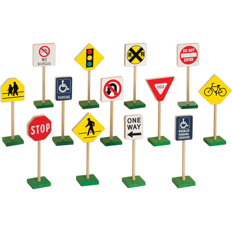 Guidecraft Wooden Traffic Signs
