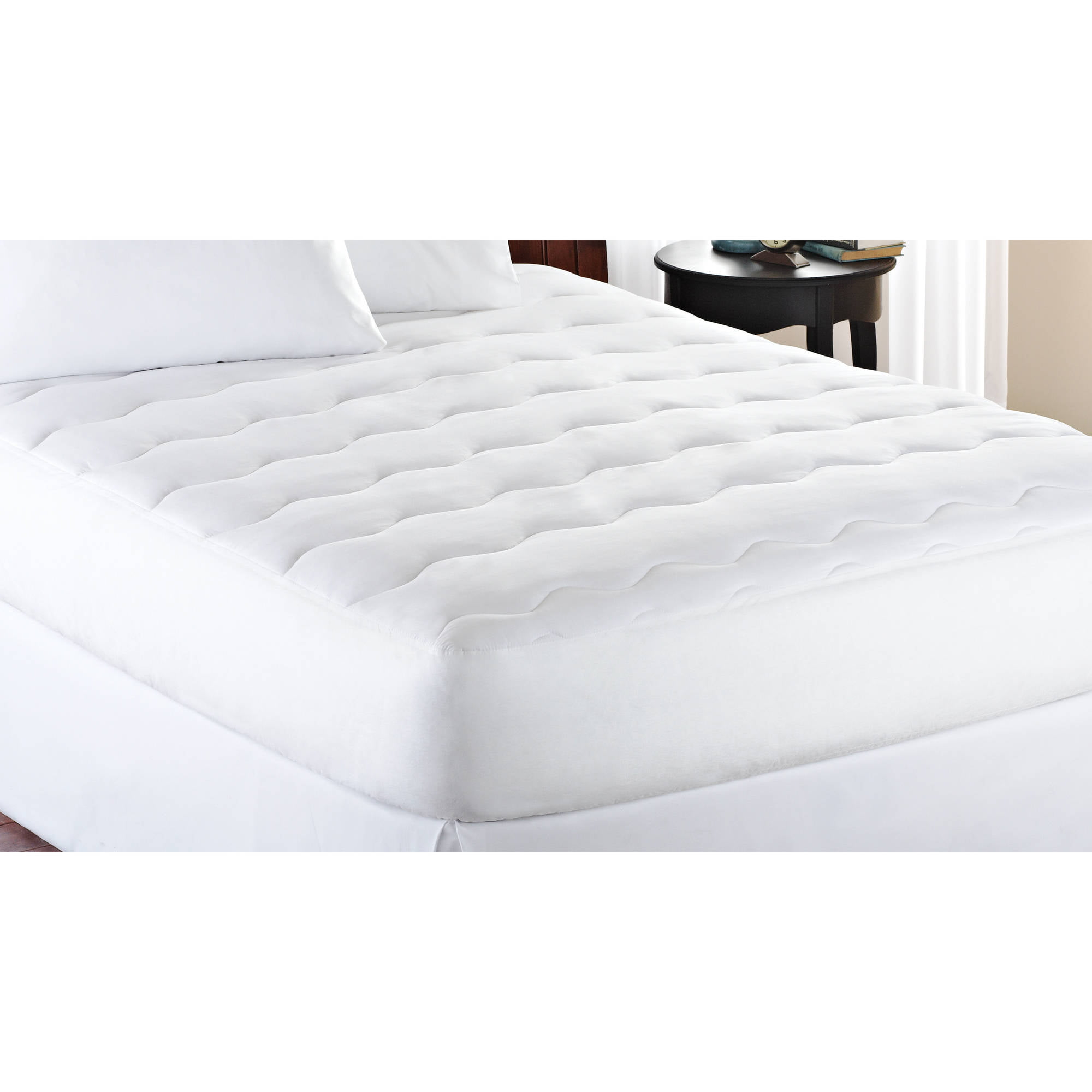 Cal King Size Mattress Pad Extra Thick White Padded Deep Pocket Bed