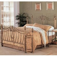 Transitional Iron Bed in Antique Brushed Gold (Full- 80 in. L x 54 in. W x 52.5 in. H)