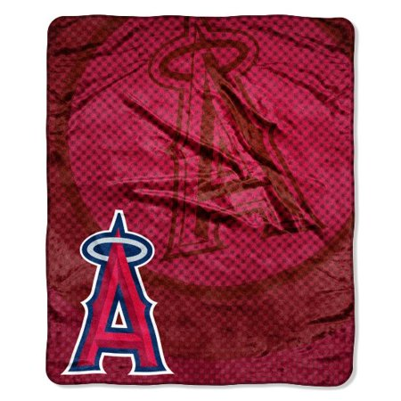 Los Angeles Anaheim Angels 50x60 MLB Retro Design Royal Plush Raschel Throw