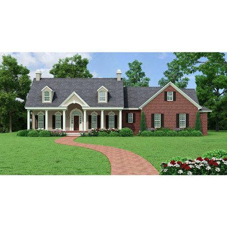 Thehousedesigners 5558 Southern House Plan With Basement Foundation  5 Printed Sets