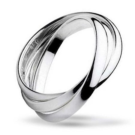 Simple 925 Sterling Silver Dome Rolling Russian Couples Wedding Band Ring For Women For