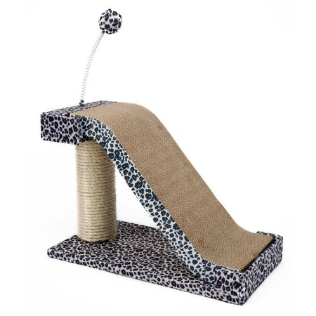 Cat Scratch Toy (Penn Plax Cat Scratching Post and Pad with Toy Fun Leopard Print)