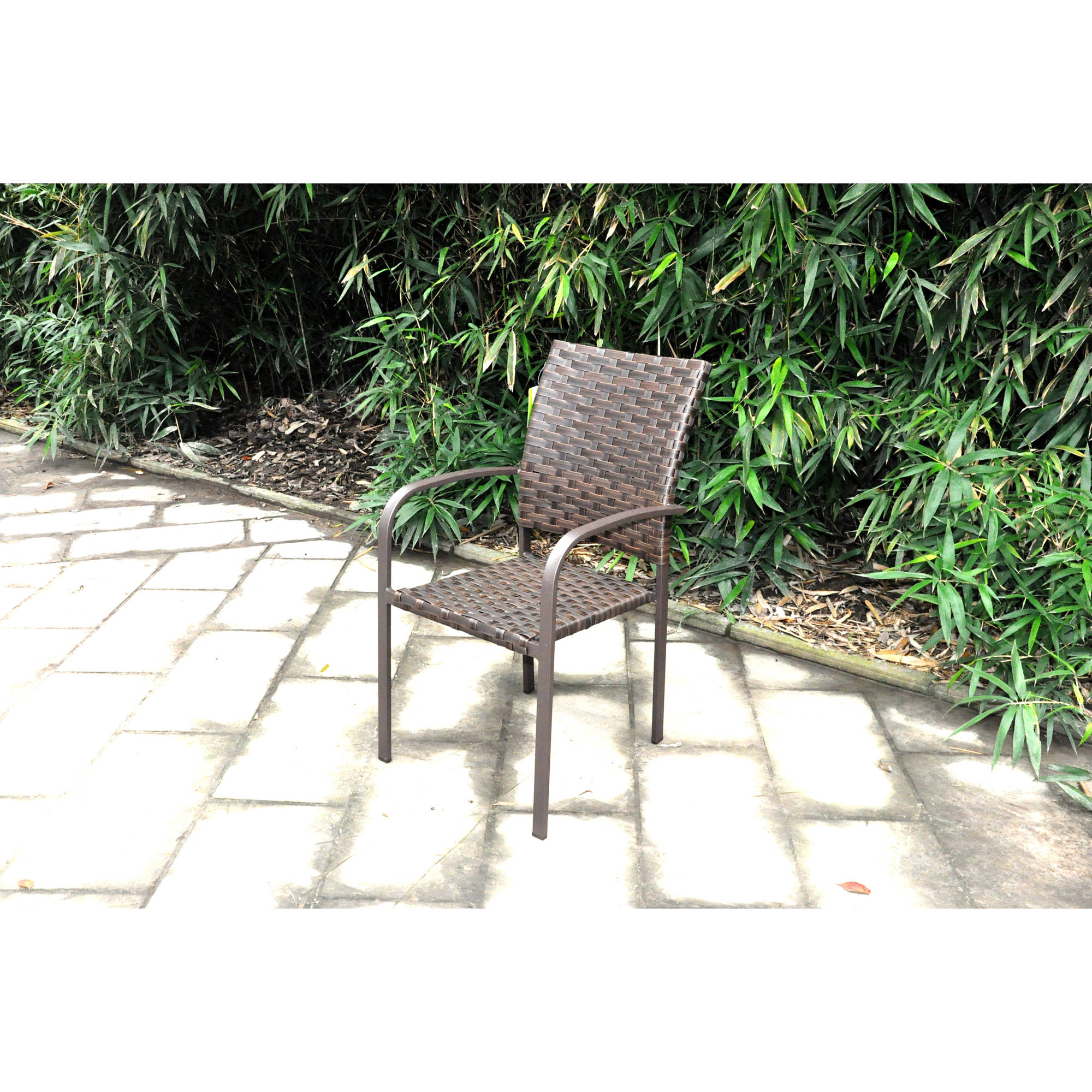 mainstays wicker stacking dining chair walmart com