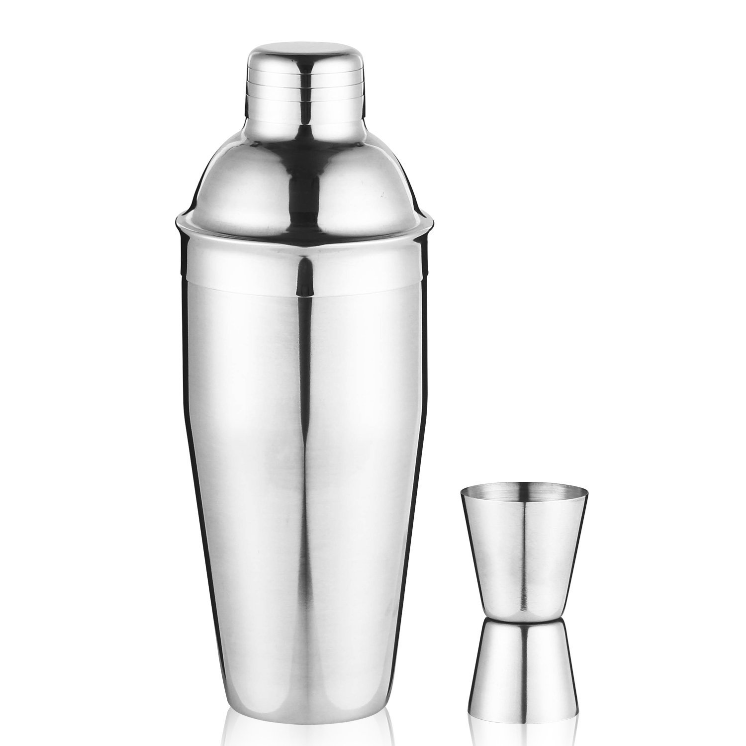 Beautytale Set of 2 Stainless Steel Shaker 750ML 3-Piece Martini Cocktail Shaker Mojito Drink Mixer Household... by