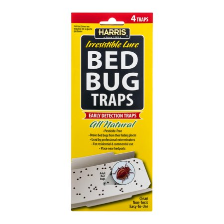 Harris Irresistible Lure Bed Bug Traps  4 Ct