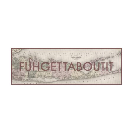 FUHGETTABOUTIT - 1873, Long Island Map, New York, United States Map Print Wall