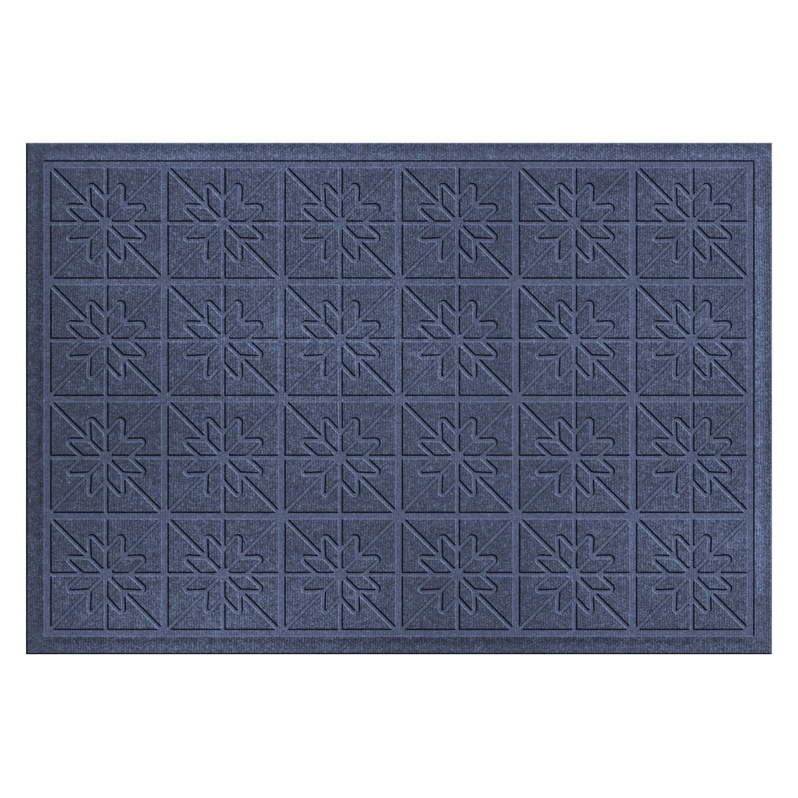 Bungalow Flooring Water Guard Star Quilt Indoor / Outdoor Mat