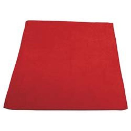 Pro-Source M915100R 16x16 inch Red Microfiber Terry Cloth
