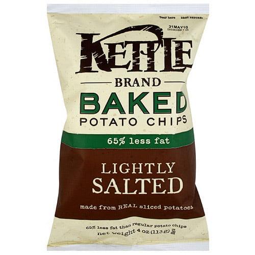 kettle brand sea salt baked potato chips 4 oz pack of 15