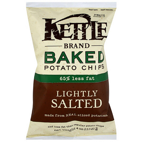 Kettle Brand Sea Salt Baked Potato Chips, 4 oz  (Pack of 15)