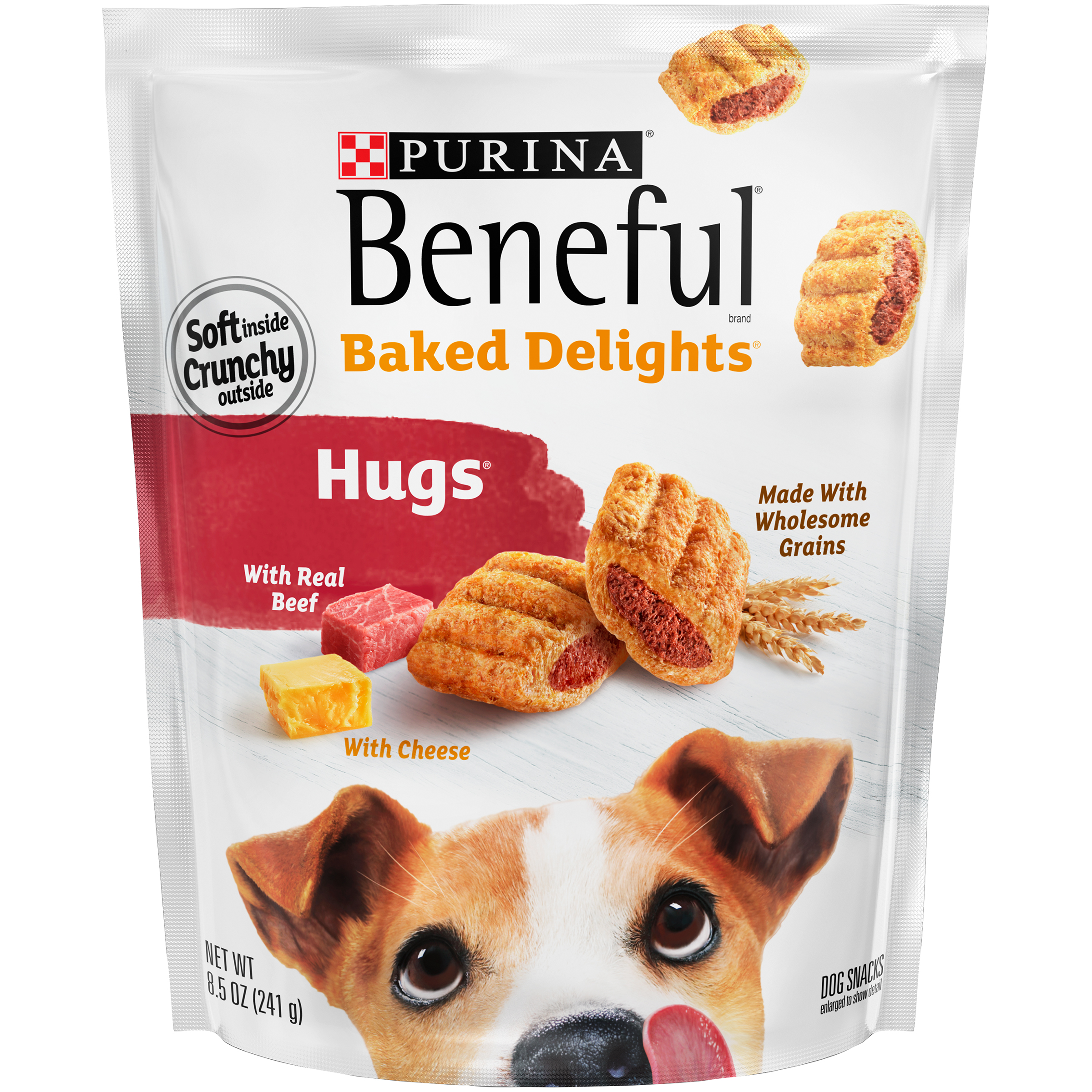 Purina Beneful Baked Delights Hugs Dog Snacks 8.5 oz. Pouch