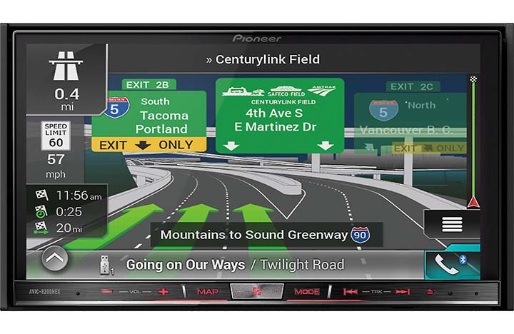 "Pioneer 7"" D.Din Nav Receiver w BTApple CarPlay by Pioneer"