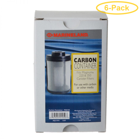 Marineland Magnum Carbon Container Fits 220 & 350 - Pack of 6