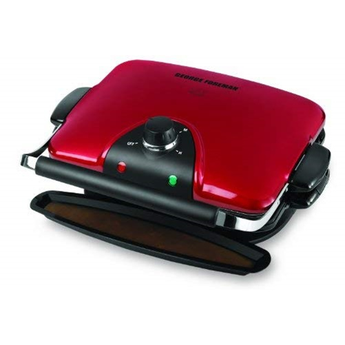 George Foreman GRP92R Indoor Electric Grill & Panini Maker - Red