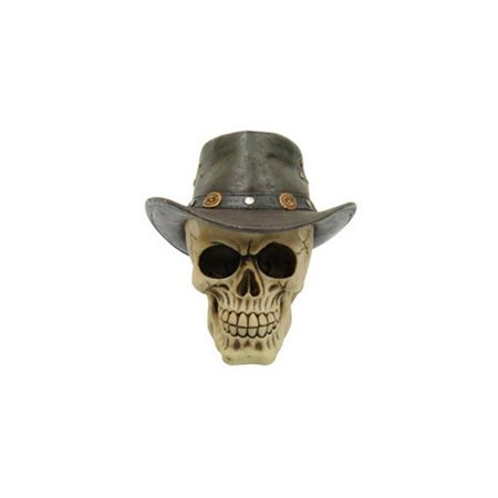 Skull with Cowboy Hat - Brown](Skull With Cowboy Hat)