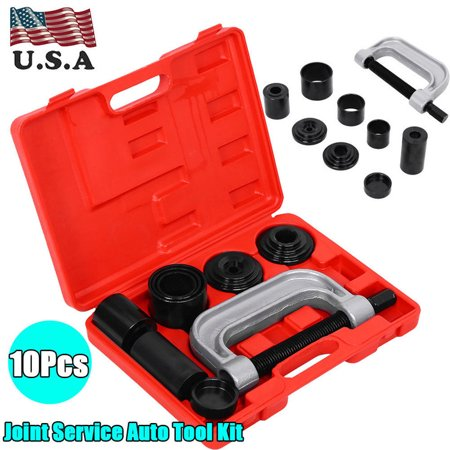 Ball Joint Press 10 PCS Ball Joint Auto Remover Installer Tool Service Kit  2WD + 4WD Vehicles Remover Install Tools Kit
