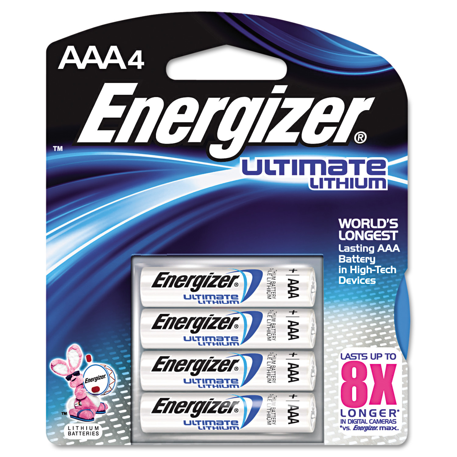Energizer Lithium Batteries, AAA, 4/Pack