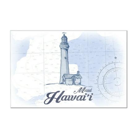 Maui, Hawaii - Lighthouse - Blue - Coastal Icon - Lantern Press Artwork (12x8 Acrylic Wall Art Gallery (Maui Lighthouse)