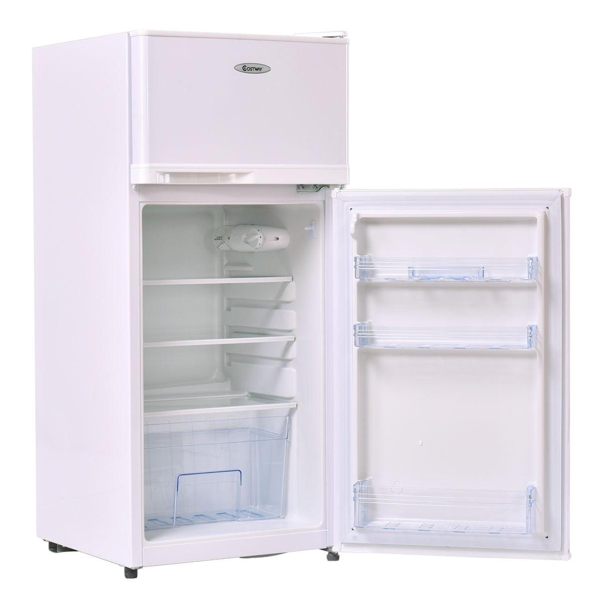 Costway 2 Doors 3 4 cu ft  Unit Compact Mini Refrigerator Freezer Cooler