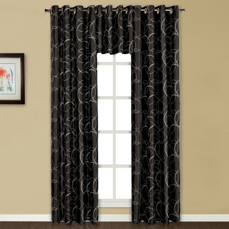 United Curtain Sinclair Embroidered Grommet Curtain Panel