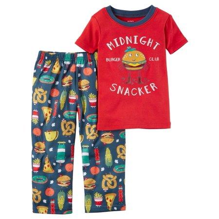 Carter's Little Boys' 2-Piece Cotton & Jersey PJs, 3-Toddler](Little Boys Pjs)