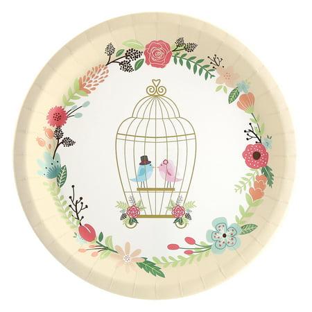 Vintage Love Birds Dinner Plate (8) (Game Bird Plate)