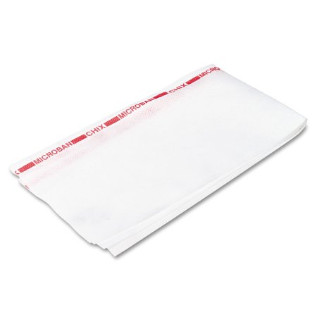 Chix Reusable Food Service Towels, Fabric, 13 x 24, White, 150/Carton -CHI8250