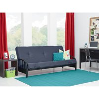 Aiden Futon Frame with Full Futon Mattress, Gray