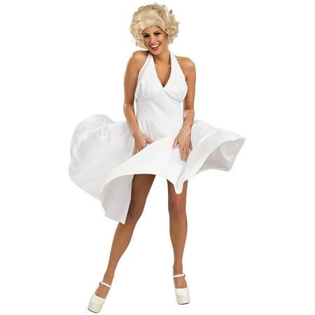 Adult Marilyn Monroe White Hollywood Starlet Dress Costume ...