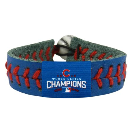 Chicago Cubs 2016 World Series Champions Team Color Baseball Bracelet - Royal - No Size (Mlb Baseball Bracelet)