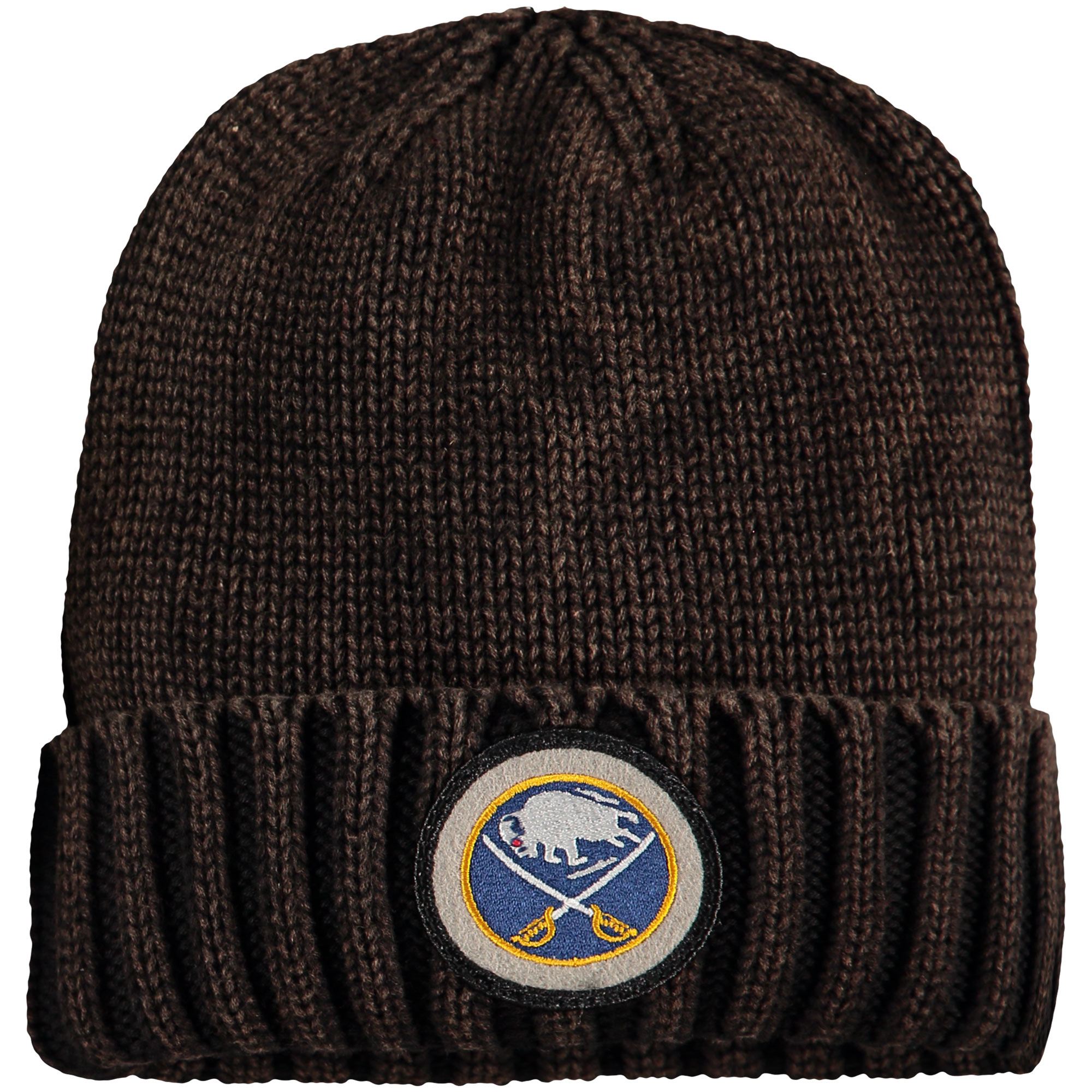 Buffalo Sabres Mitchell & Ness Vintage Ribbed Cuffed Knit Hat Brown OSFA by MITCHELL NESS CO.
