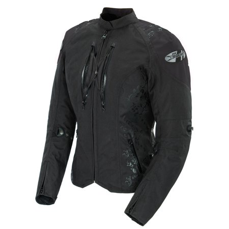 (Joe Rocket Atomic 4.0 Womens Black Textile Motorcycle Jacket)