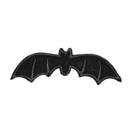 ID 0932 Vampire Bat Symbol Patch Halloween Scary Embroidered Iron On Applique - Iron On Halloween Appliques