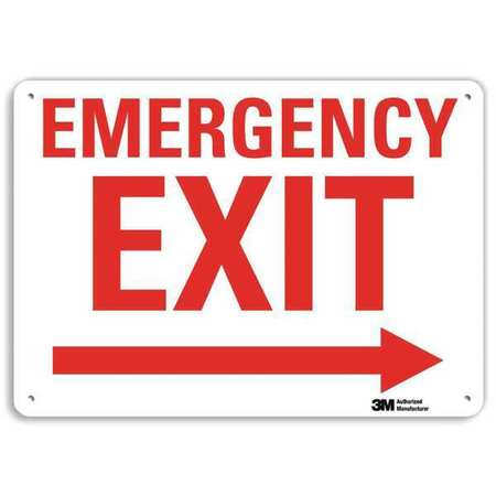 LYLE Safety Sign,Reflctv Alumi,14inH x 10inW, U7-1077-RA_14X10