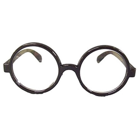 Harry Potter Round Glasses Eye Nerd Black Nerdy Geek Brainy Costume Accessory](Potter Glasses)