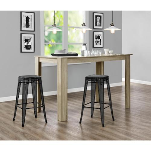 Dhp Nova 30 Inch Metal Mesh Backless Counter Stool Set Of