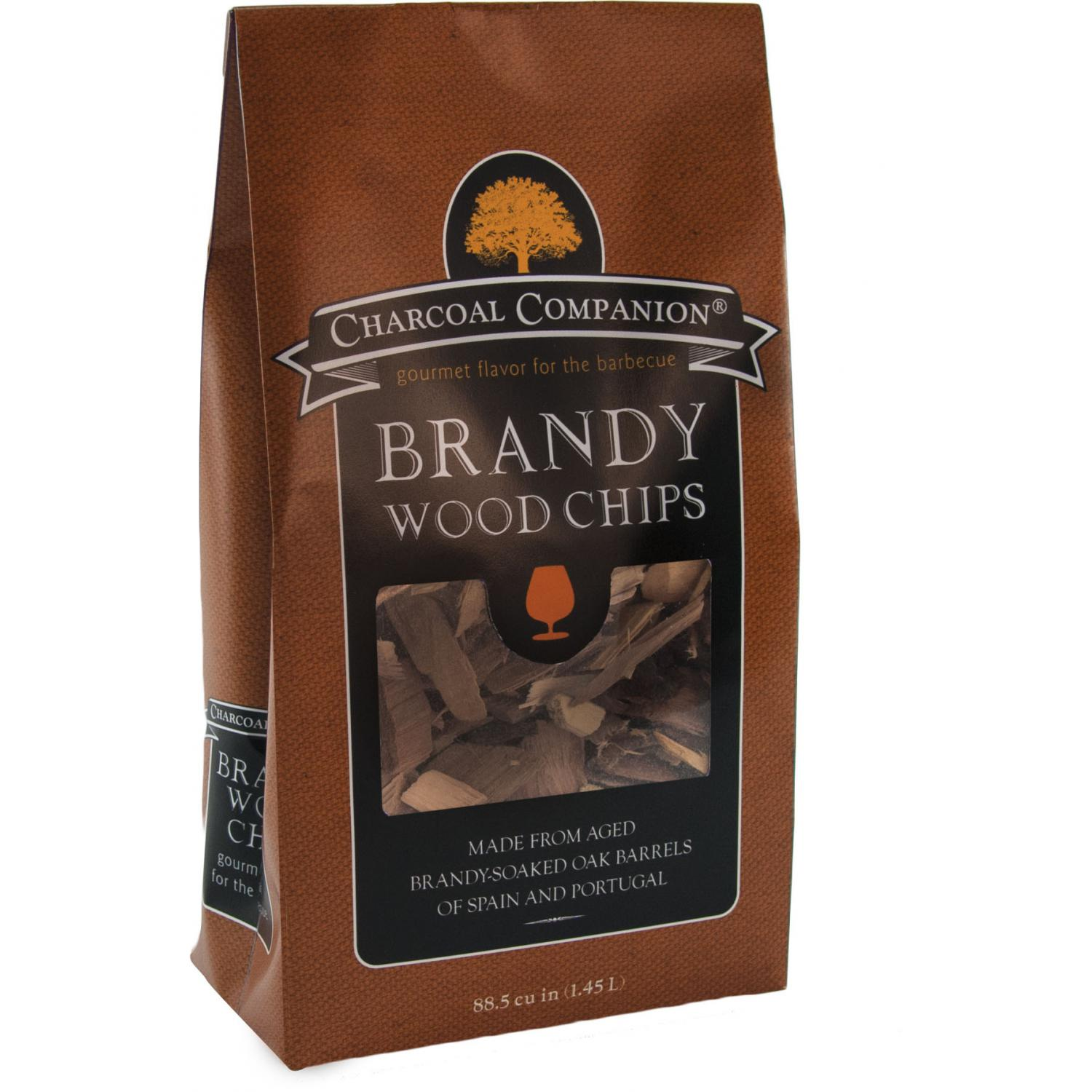 Charcoal Companion Brandy Soaked Wood Chips / 88.5 cu.in.