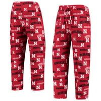 Nebraska Cornhuskers Concepts Sport Fairway Knit Pants - Scarlet