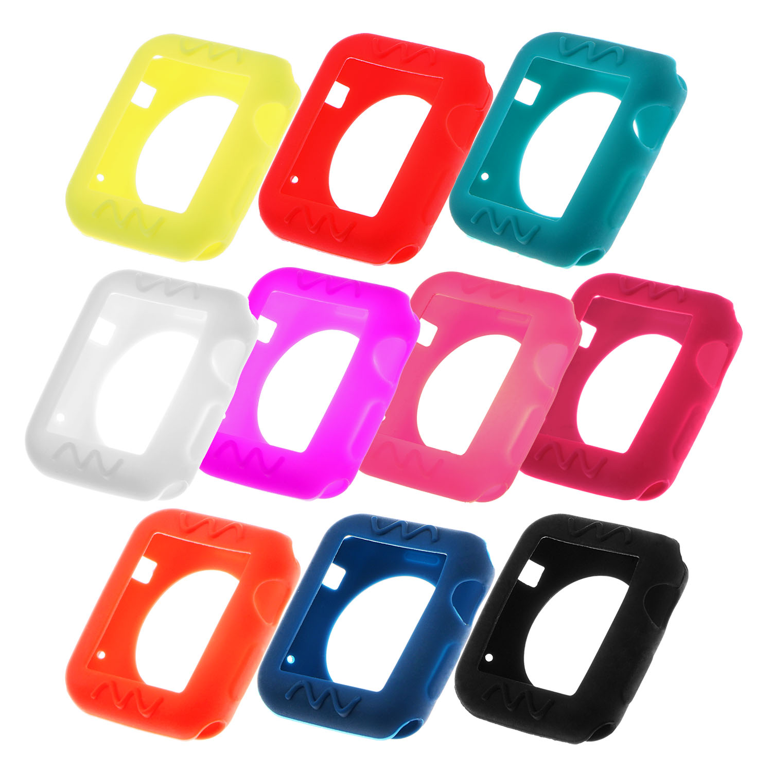 StrapsCo Silicone Rubber Protective Case Cover for 38mm 42mm Apple Watch Series 1/2/3 - image 1 of 3