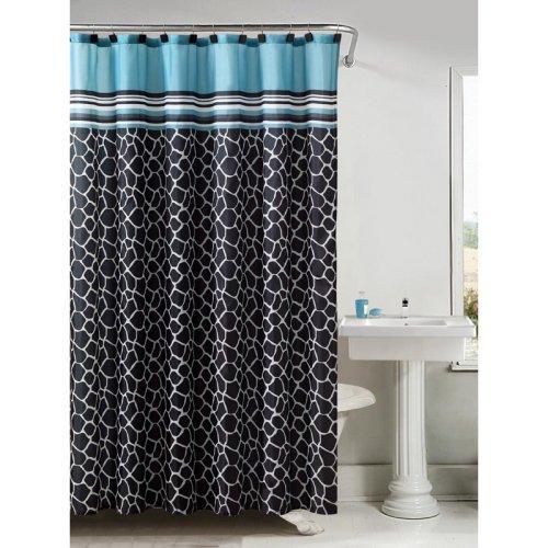Victoria classics khadi printed shower curtain with hooks 13 pc set