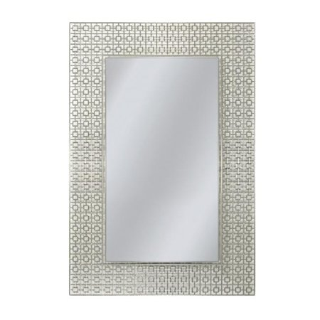 Head West 8330 24 x 30 in. Off White Etched Geometric Wall Mirror