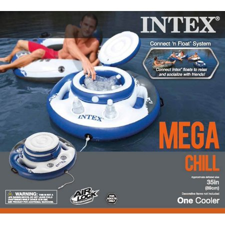 Intex Mega Chill Inflatable Beverage Coolers & River Run Lounge Inflatable Tubes - image 8 of 11