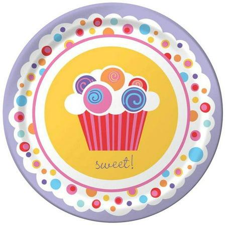 Sweet Cupcake Party Dessert Plates, 8pk (Cupcake Plates)