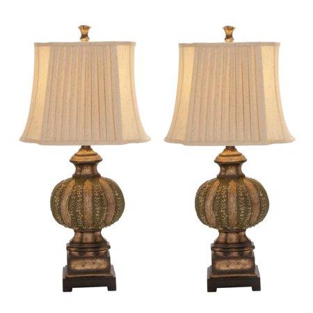 - EC World Imports Urban Chateau Bordeaux 34'' Table Lamp (Set of 2)