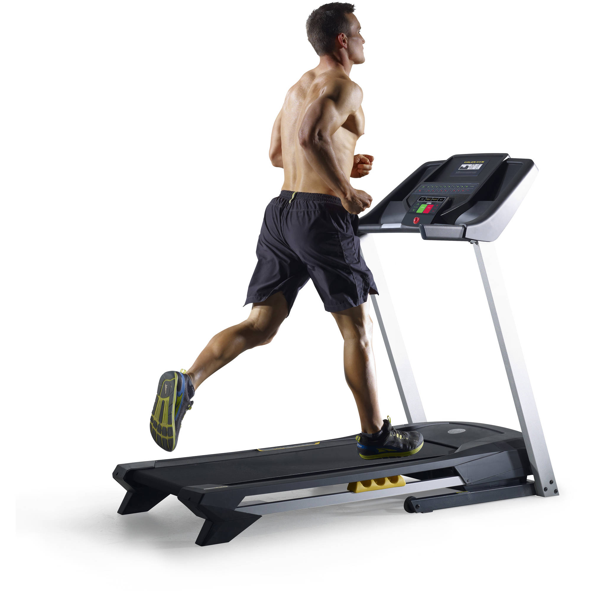 Gold's Gym 420 Treadmill with SpaceSaver Design and Heart Rate Monitor