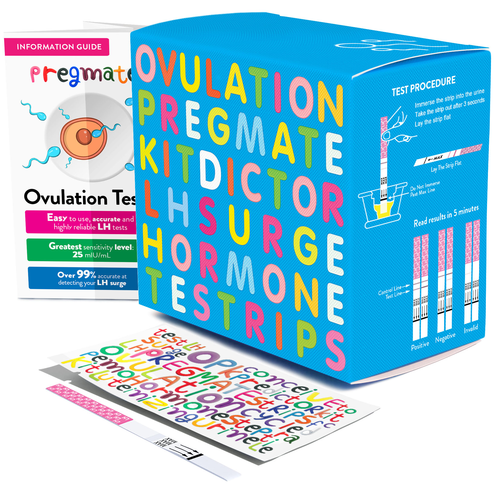 Best Ovulation Tests - PREGMATE 60 Ovulation LH Test Strips Pregnancy Predictor Review