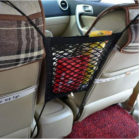 Zone Tech Mesh Bag Organizer Kids Pets Safety Driving Net Vehicle 2 in 1 Organizer, Barrier ()